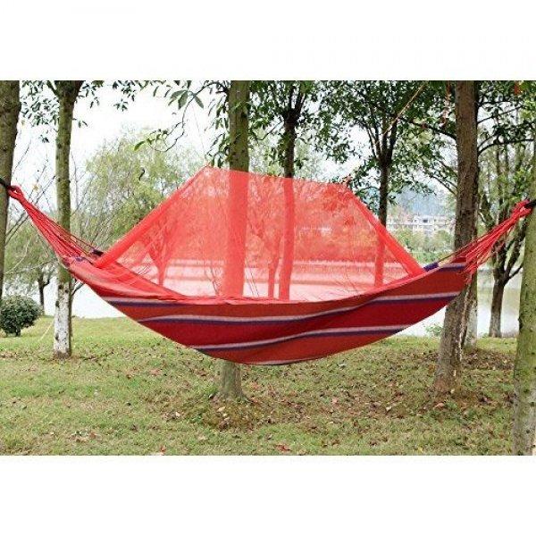 Хамак 200 x 80 см от памучен материал с мрежа против комари600244