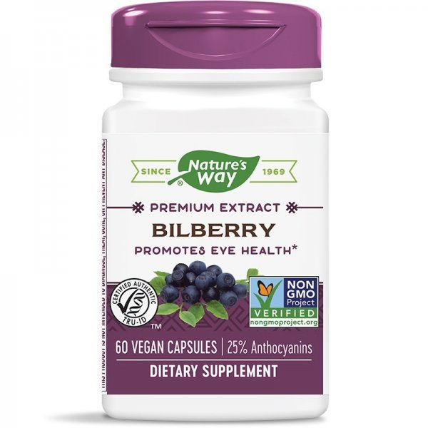 Nature's Way Bilberry 200 мг 60 капсули60500