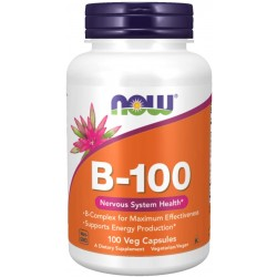 NOW Vitamin B-100 100 капсули