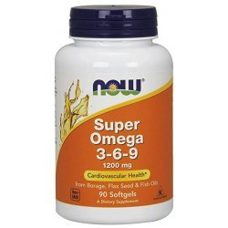 Now Super Omega 3-6-9 1200 мг 90 дражета