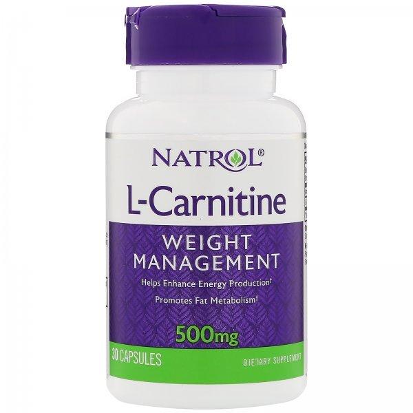 Natrol L-Carnitine 500 мг 30 капсулиNAT410