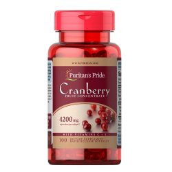 Puritan's Pride Cranberry Fruit Concentrate with C & E 4200 мг 100 дражета