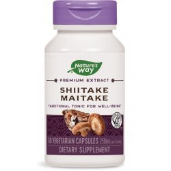 Nature's Way Shiitake & Maitake 400 мг 60 капсули