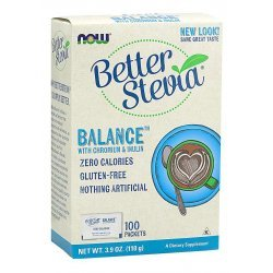 NOW Stevia Balance (With Chromium & Inulin)  100 пакета