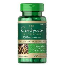 Puritan's Pride Cordyceps 750 мг 60 капсули