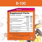 NOW Vitamin B-100 100 капсулиNOW00392