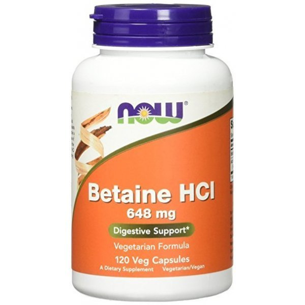 NOW Betaine HCL 120 капсулиNOW2938