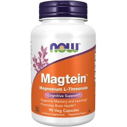 NOW Magtein Magnesium L-Threonate 90 капсули