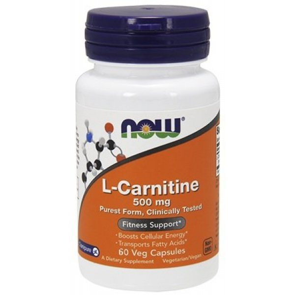 NOW L-carnitine 60 капсулиNOW72