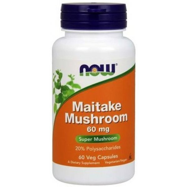 NOW Maitake Mushrooms 60 капсулиNOW4711