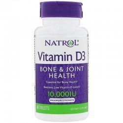Natrol Vitamin D3 10 000 IU 60 таблетки