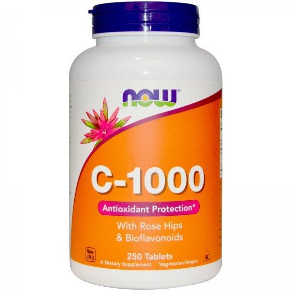 NOW Витамин C-1000 No TR 250 таблеткиNOW687