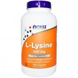 NOW Lysine 250 таблетки