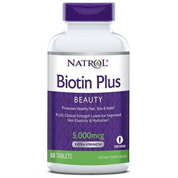 Natrol Biotin Plus Lutein 60 таблеткиNAT356