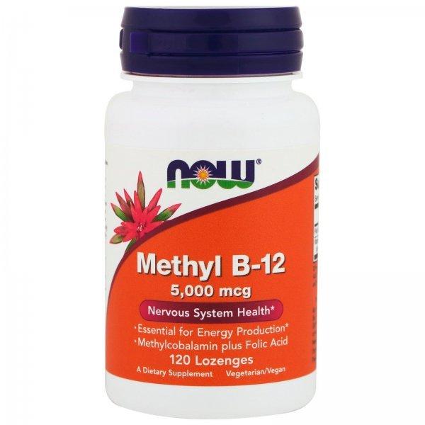 NOW Methyl B12 5000 мкг 60 дражетаNOW Methyl B12 5000 мкг 60 дражета
