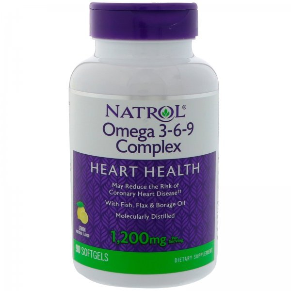Natrol Omega 3-6-9 Complex 90 дражетаNAT442