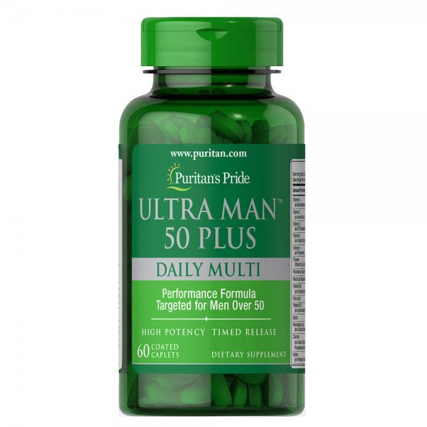 Puritan's Pride Ultra Man 50 Plus 60 таблеткиPP1139