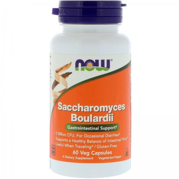 NOW Saccharomyces Boulardii 60 капсулиNOW2934