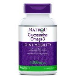 Natrol Glucosamine Omega-3 90 дражета