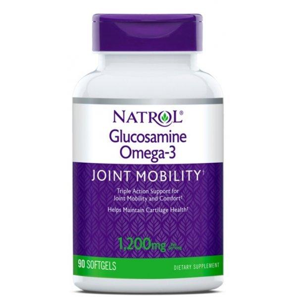 Natrol Glucosamine Omega-3 90 дражетаNAT397