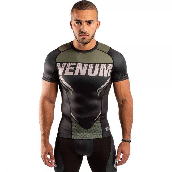 Рашгард с къси ръкави Venum ONE FC Impact, black/khakiVEN0122
