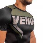 Рашгард с къси ръкави Venum ONE FC Impact, black/khakiVEN01223