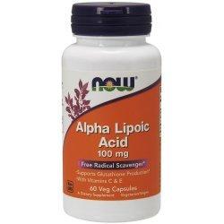 NOW Alpha Lipoic Acid 100 mg 60 капсули