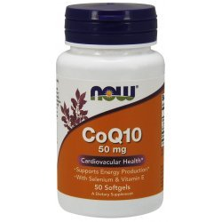NOW CoQ10 50 mg + Витамин Е - 50 дражета