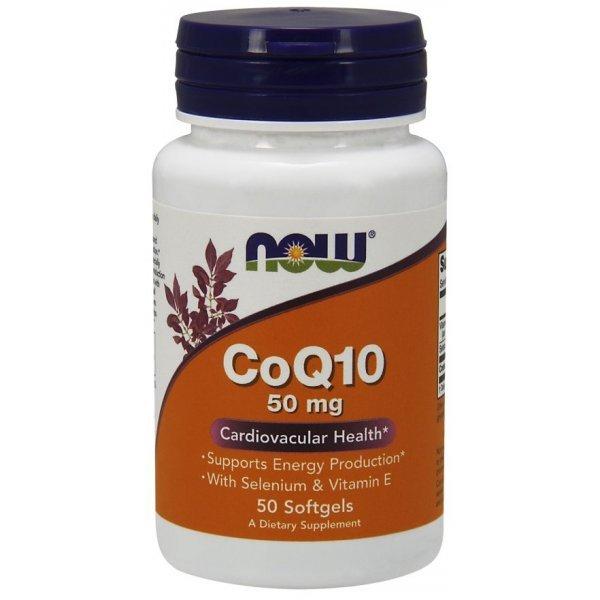 NOW CoQ10 50 mg + Витамин Е - 50 дражетаNOW3192