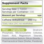 Pure Caffeine Tabs 200 мг 100 таблеткиPN17332