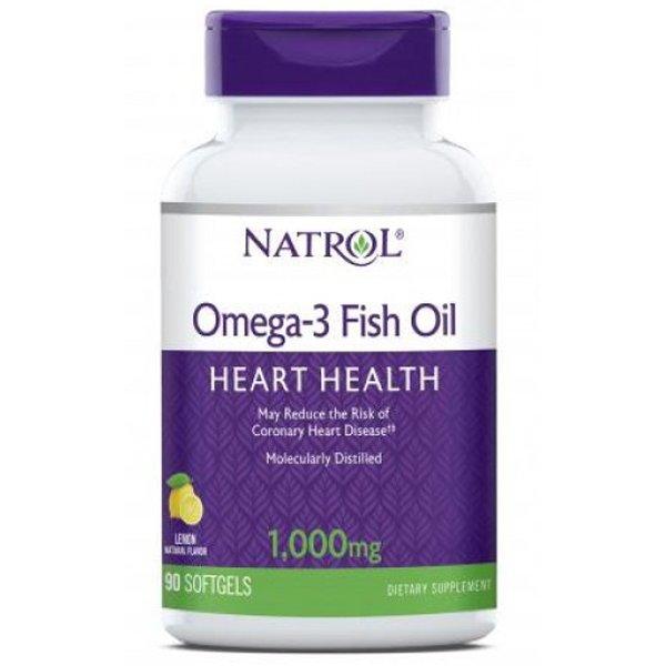 Natrol Omega-3 Fish Oil 90 дражетаNAT436