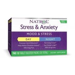 Natrol Stress & Anxiety 10+10 таблетки