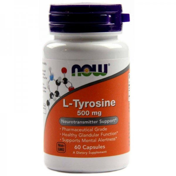NOW Tyrosine 60 капсули     NOW160