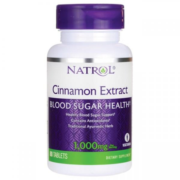 Natrol Cinnamon Extract 1000 мг 80 таблеткиNAT365