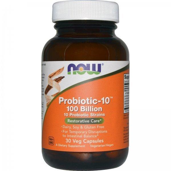 NOW Probiotic-10 100 Billion 30 капсулиNOW2931