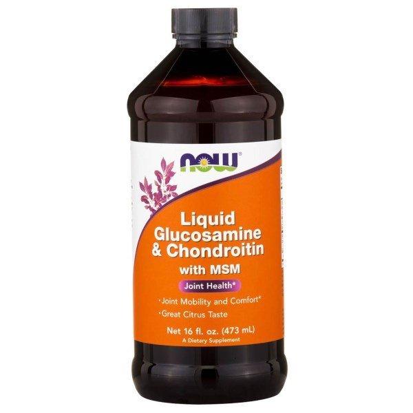 NOW Glucosamine /Chondroitin/ MSM теченNOW3175