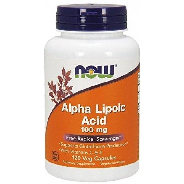 NOW Alpha Lipoic Acid 100 мг 120 капсулиNOW3041