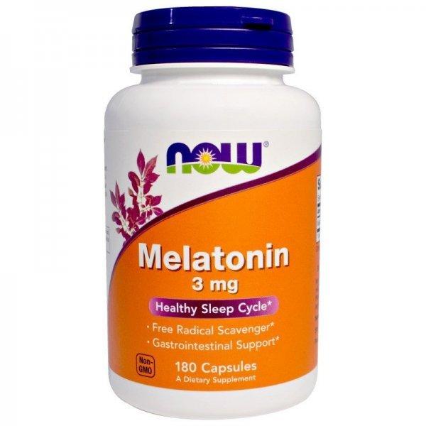 NOW Melatonin 3 мг 180 капсулиNOW3257