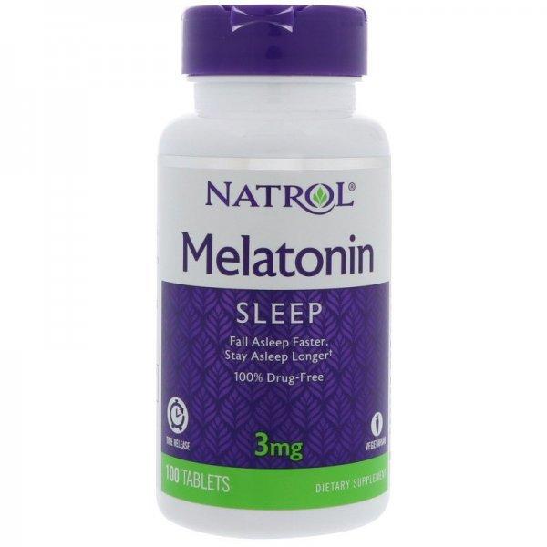 Natrol Melatonin Time Release 3 мг 100 таблеткиNAT417