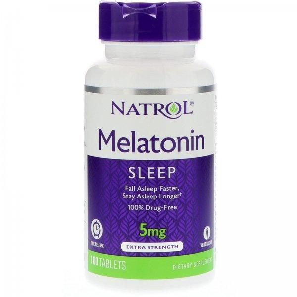 Natrol Melatonin Time Release 5 мг 100 таблетки NAT418