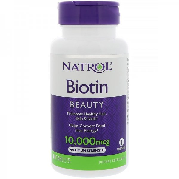 Natrol Biotin Maximum Strenght 10 000 mcg 100 таблеткиNAT354