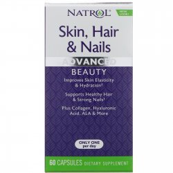 Natrol Skin Hair Nails + Collagen 60 капсули