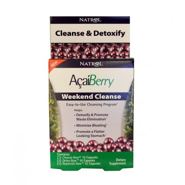 Natrol Acai Berry Weekend Cleanse 30 капсули NAT343