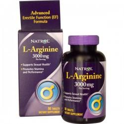 Natrol L-Arginine 3000 мг 90 таблетки