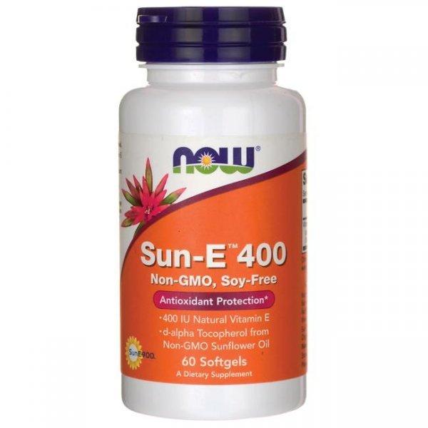 NOW Витамин Е (Sun-E) 400IU 60 дражетаNOW935