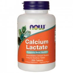 NOW Calcium Lactate 10 GR 250 таблетки