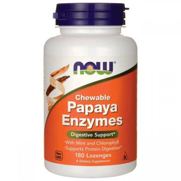 NOW Papaya enzymes 180 дражетаNOW2970