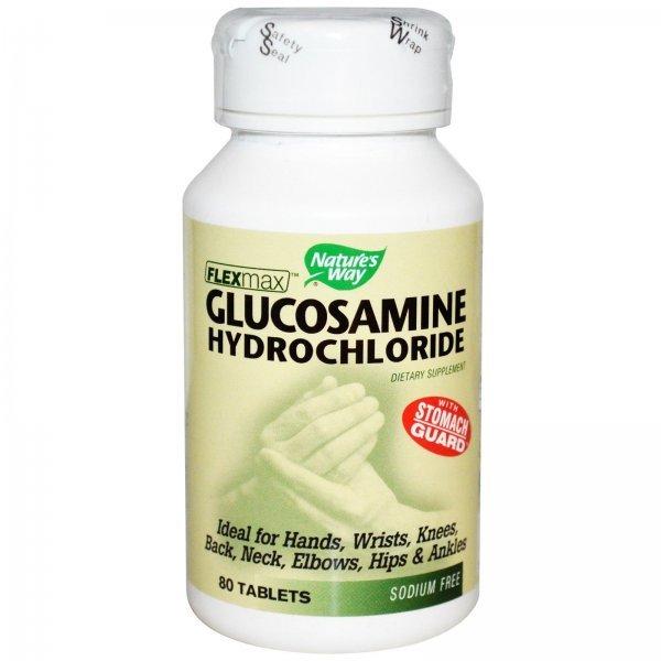 Nature's Way Glucosamine HCL 375 мг 80 таблетки14220