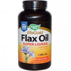 Nature's Way Flax Oil Super Lignan 1300 мг 100 капсули
