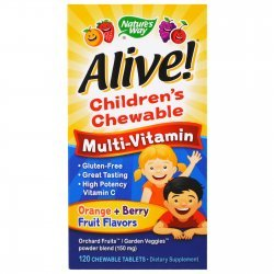 Nature's Way Alive Children's Chewable Multivitamin 120 таблетки